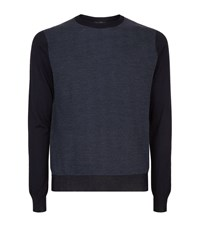 Corneliani Jacquard Knit Sweater Male Navy