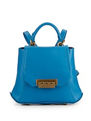 Zac Posen Leather Backpack Bright Blue