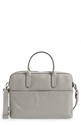 Ben Minkoff 'Fulton' Leather Briefcase Medium Grey