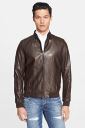 Salvatore Ferragamo Reversible Nappa Leather Jacket Brown