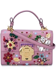 Dolce And Gabbana 'Lucia' Tote Pink And Purple