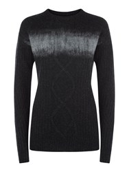 Victorinox Nadine Cable Knit Sweater Charcoal