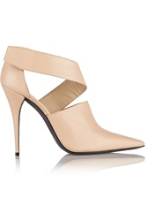 Narciso Rodriguez Camilla Cutout Leather Ankle Boots Nude