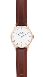 Daniel Wellington Dapper St. Mawes 38Mm Leather Band Watch Rose Gold