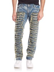 Robin's Jeans Beaded Distressed Jeans Boston