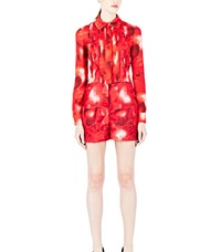 Valentino Heart Print Playsuit Red