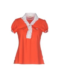 Siviglia Denim Topwear Polo Shirts Women Orange