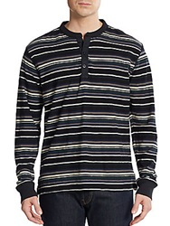 Burkman Bros Striped Henley Shirt Multi Color