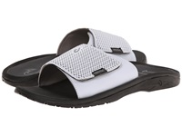 Olukai Kekoa Slide White Black Men's Sandals