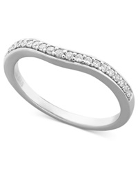 Macy's Diamond Contour Band Ring In 14K White Gold 1 6 Ct. T.W.