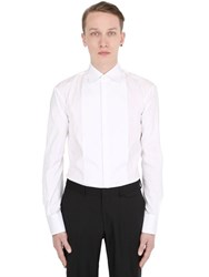 Dsquared Plastron Stretch Cotton Poplin Shirt