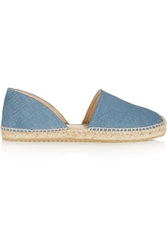 Jimmy Choo Denim Effect Suede Espadrilles