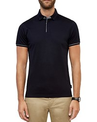 Ted Baker Sergio Zip Regular Fit Polo Navy
