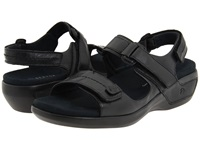 Aravon Katy Black Leather Women's Sandals