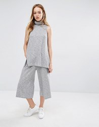 Native Youth Wide Leg Trousers Co Ord Grey