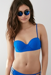 Forever 21 Corset Lace Up Bikini Top Royal