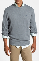 Vineyard Vines 'Whale' Classic Fit Cotton Crewneck Sweater Grey Heather