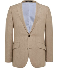 Austin Reed Contemporary Fit Linen Jacket Khaki