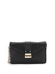 Saks Fifth Avenue Leather Shoulder Wallet Black