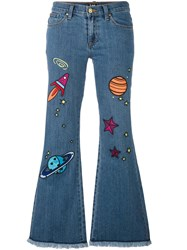 House Of Holland 'Hoh X Lee Collaboration' Flared Jeans Blue