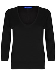 Winser London Brigitte Scoop Neck Jumper Black