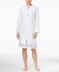 Charter Club Floral Border Print Zip Front Robe Only At Macy's Raining Buds