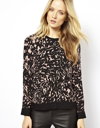 Whistles Smudged Spot Print Silk Sweatshirt Multicolour