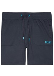 Boss Navy Cotton Shorts