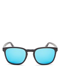 Finlay And Co. Bowery Mirrored Wooden Sunglasses 53Mm Wood Blue