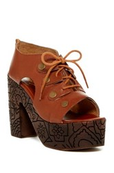 Free People Farriah Platform Lace Clog Beige