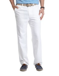 Nautica Linen Cotton Pants Bright White
