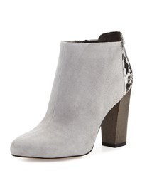 Sam Edelman Circus Bond Snake Embossed Suede Bootie Mouse Grey