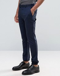 Asos Super Skinny Smart Joggers With Cargo Pockets Navy