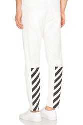 Off White Slim Fit Crop Jeans White Blac