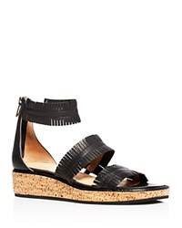 Bettye Muller Marque Demi Wedge Sandals Black