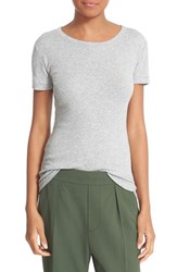 Vince Women's Pima Cotton Tee Heather Grey