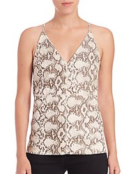Bailey 44 Python Embossed Leather Tank Multicolor