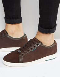 Ted Baker Owenn Suede Trainers Brown
