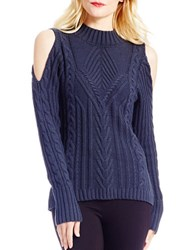 Jessica Simpson Knit Cold Shoulder Pullover Blue