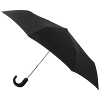 Totes Wonderlight Auto Open Close Crook Umbrella Black