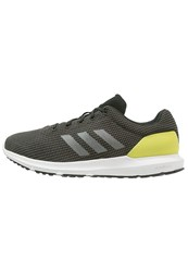 Adidas Performance Cosmic Cushioned Running Shoes Solid Grey Iron Metallic Shock Slime Black