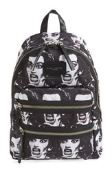 Marc By Marc Jacobs Marc Jacobs 'Maria Biker' Print Canvas Backpack