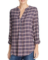 Soft Joie Daylan Plaid Shirt Peacoat Rose