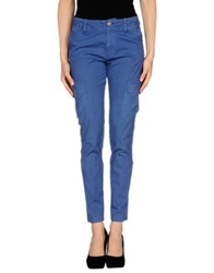 Peacock Blue Casual Pants