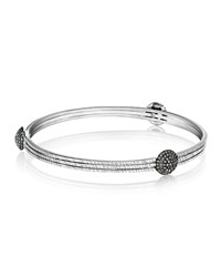 Spring Sterling Silver Bangle With Diamond Spheres Coomi