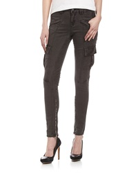 Fade To Blue Twill Skinny Cargo Pants Gray