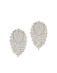 Bcbgmaxazria Embellished Brass And Steel Stud Earrings Crystal