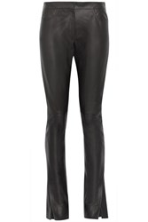 Loewe Leather Flared Pants Black