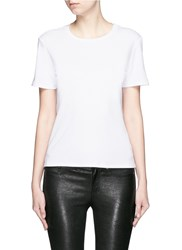 The Row 'Wesler' Back Seam Cotton T Shirt White