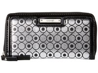 Nine West Glitter Mob Small Zip Silver Black Clutch Handbags Gray